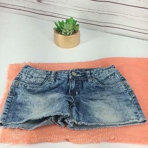 Justice Girl's Frayed Hem Jean Shorts
